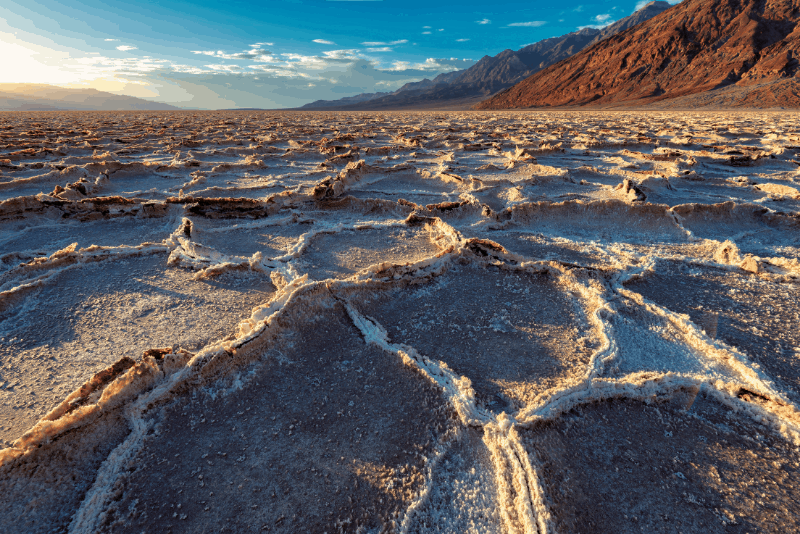Parched sandy ground in Death Valley