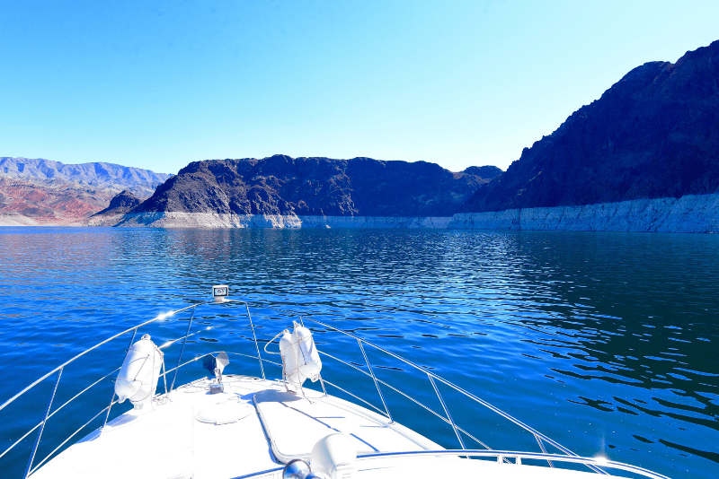 Lake mead as seen from a boat