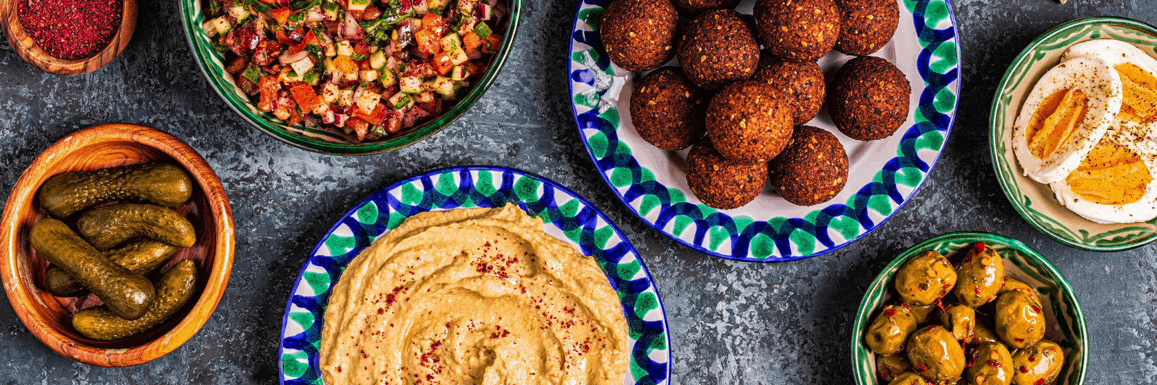 Plates of healthy Arabic foods you need to try