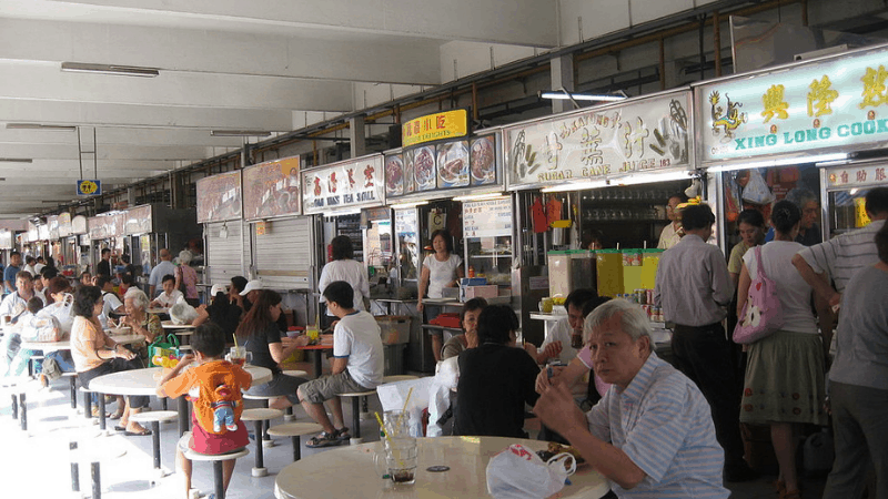 Hawker booths atMarine Parade Food Centre