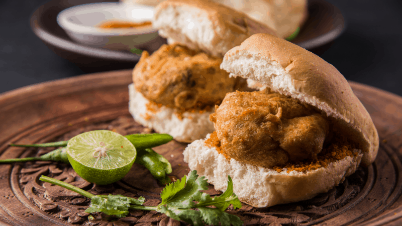 Vada pav on bread. One of the best Indian foods