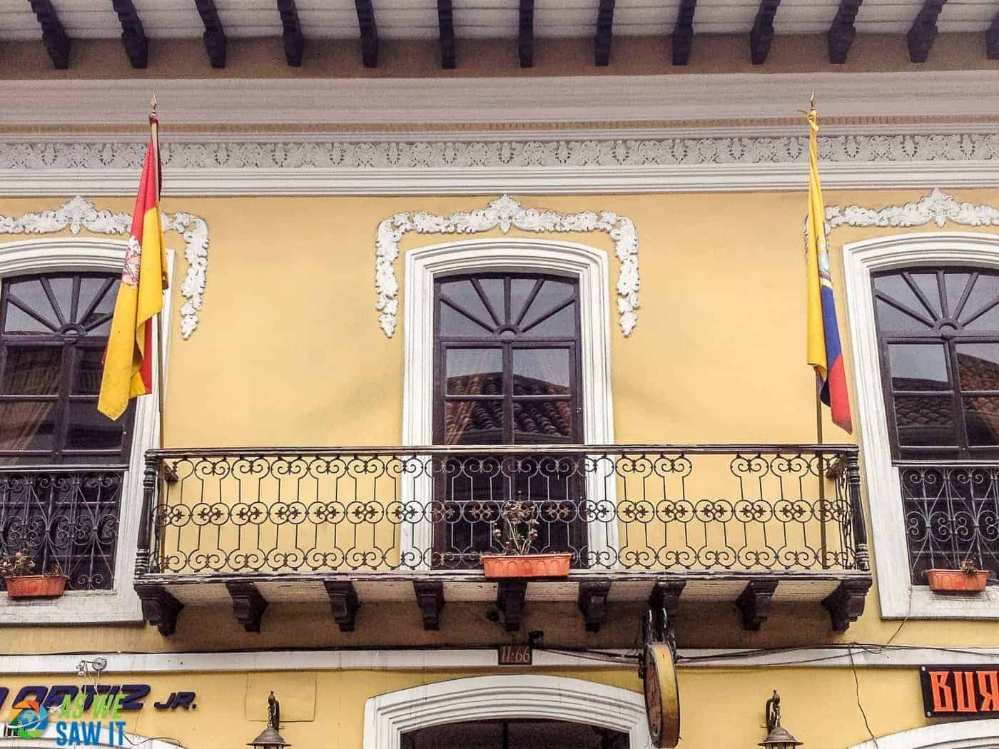 Balcony Walk in old town Cuenca, Ecuador