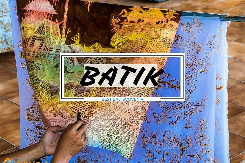 Ubud batik artists - best Bali souvenir
