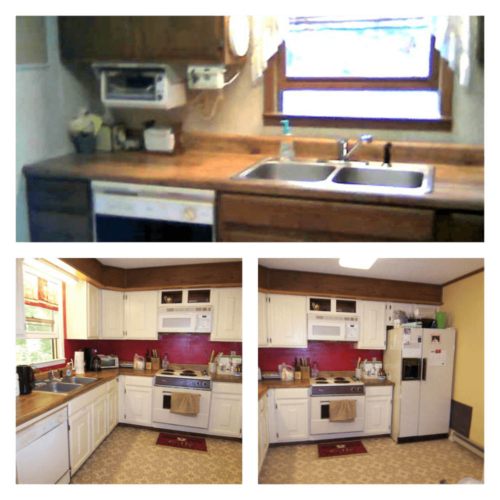 1970s itchen update before & after