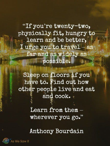 Bourdain travel quote