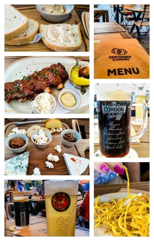 Bratislava food collage