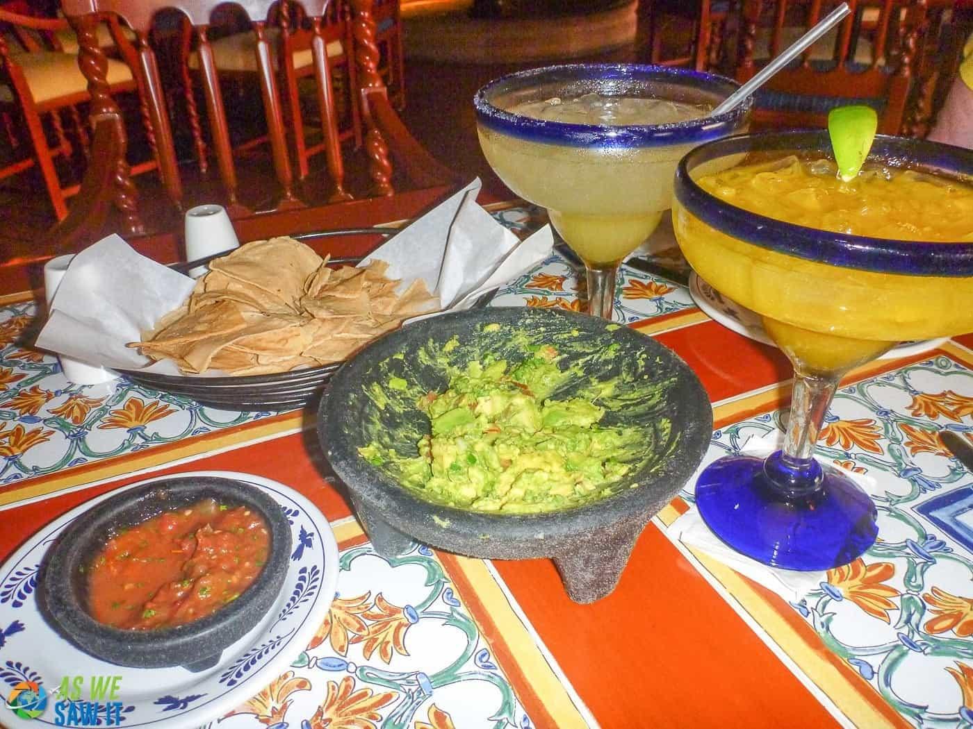 Margaritas and Guacamole in Cancun Mexico