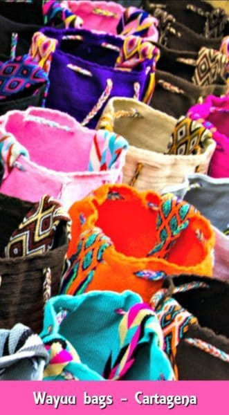 Wayuu bags are a typical Cartagena souvenir