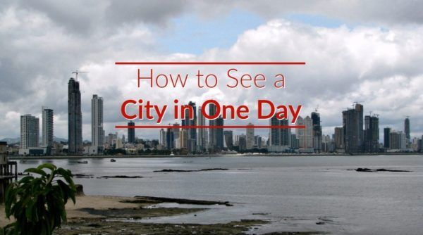 Meme How to See a City in One Dat with skyline of Panama City in background