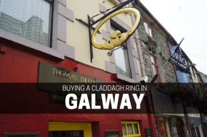 Buying a Claddagh ring where it was first made, in Galway.