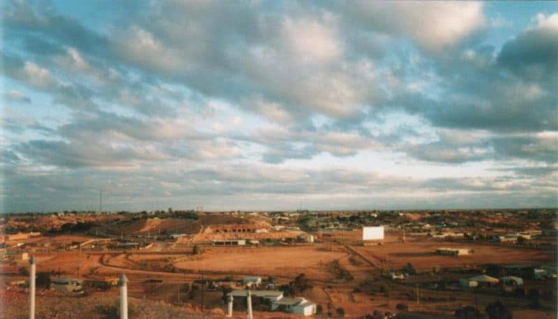 Red clay of the Australian outback in Coober Pedy