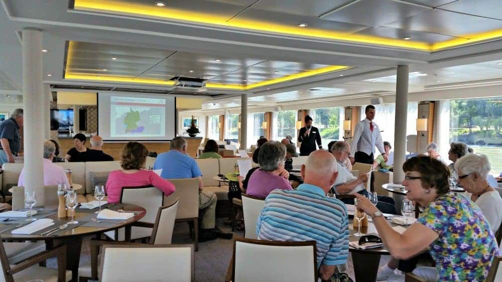 Devi speaks on our Viking Cruise in budapest