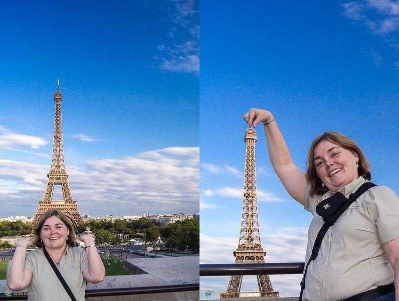 Eiffel Tower Perspective Shots