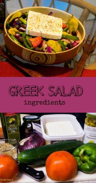 "True Greek Salad is light and refreshing, and full of healthy ingredients. With minimal prep, it makes an easy main dish - no wonder it's such a popular food in Greece! Learn how to make authentic ""horiatiki salata"" the right way. #salads #greece #easy #vegetarian #recipes #healthfood"