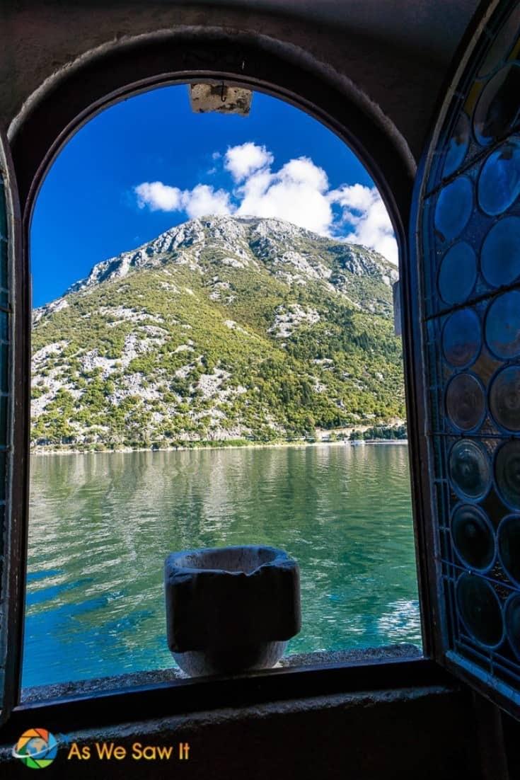Window on the Bay of Kotor, Montenegro