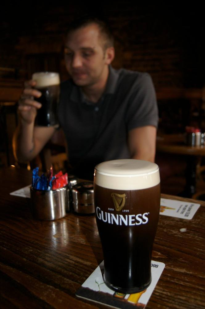 Savoring a first Guinness on Irish soil