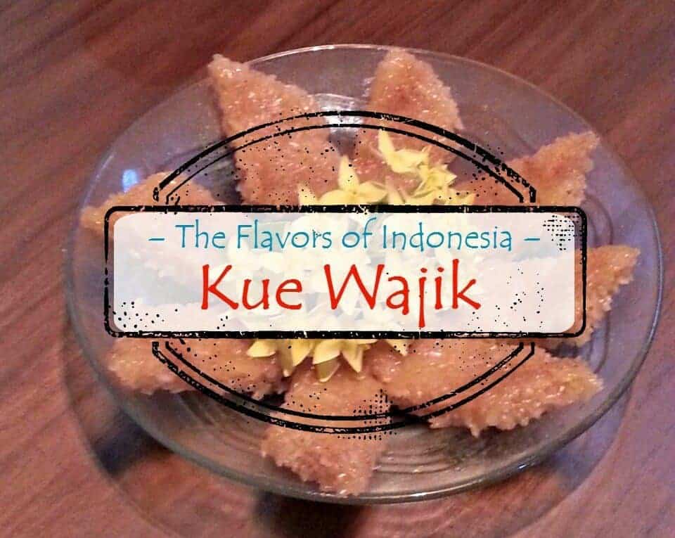 "Photo of homemade Kue Wajik, with overlay that says ""The Flavors of Indonesia-Kue Wajik"""