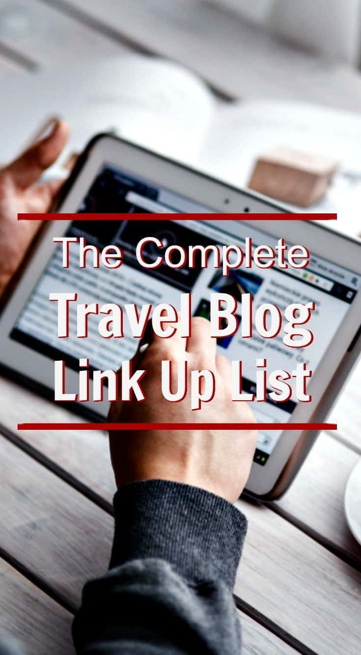A comprehensive list of travel blog link up opportunities, blog hops and link parties that focus on travel articles and/or travel photography.