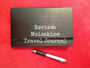 Cover of Moleskine travel journal