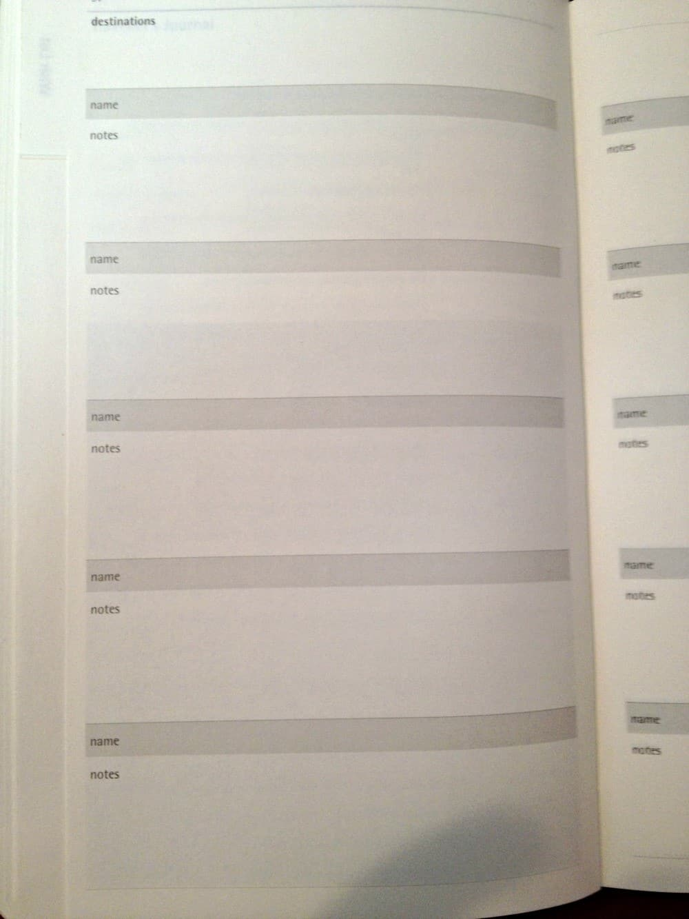 Moleskine Travel Journal sec 2 tab 1