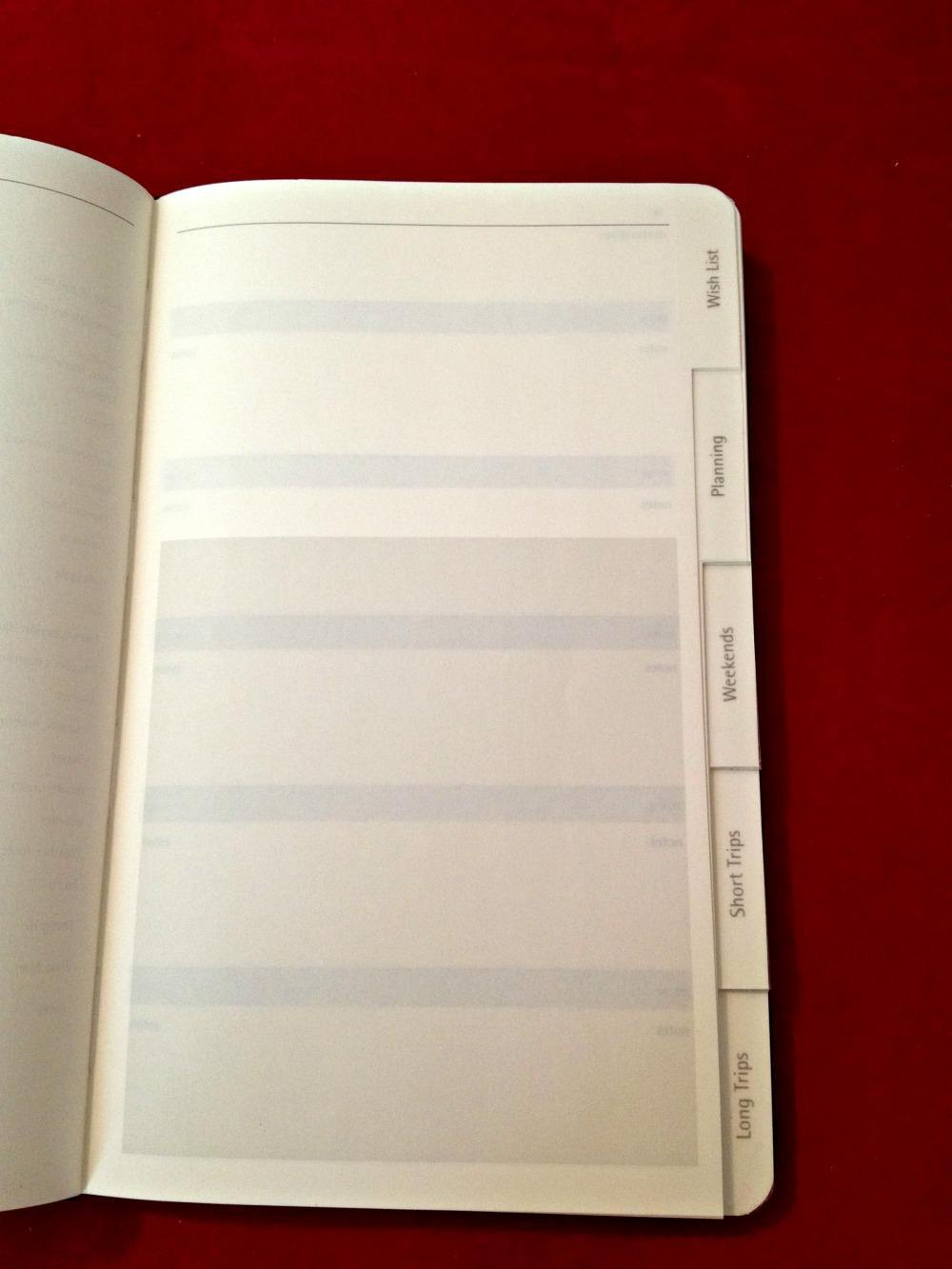 Moleskine Travel Journal sec 2 tabs