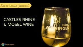 Mosel wine glass cover shot