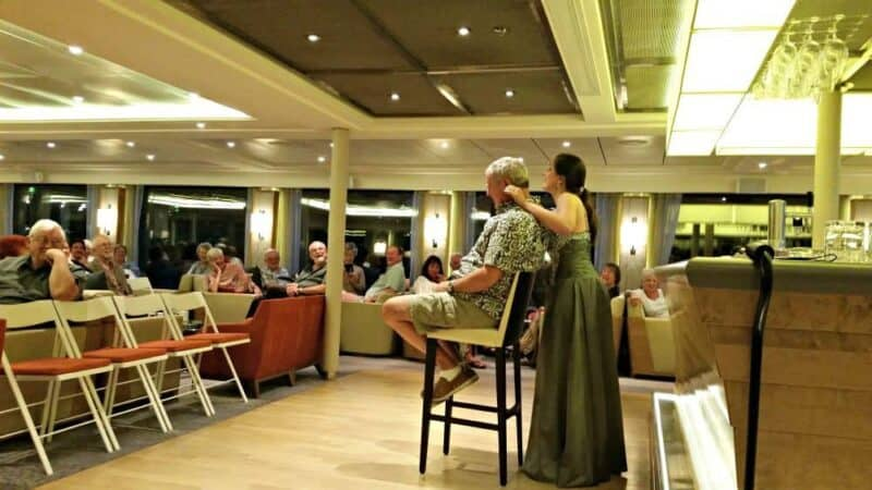 Performance on a river cruise