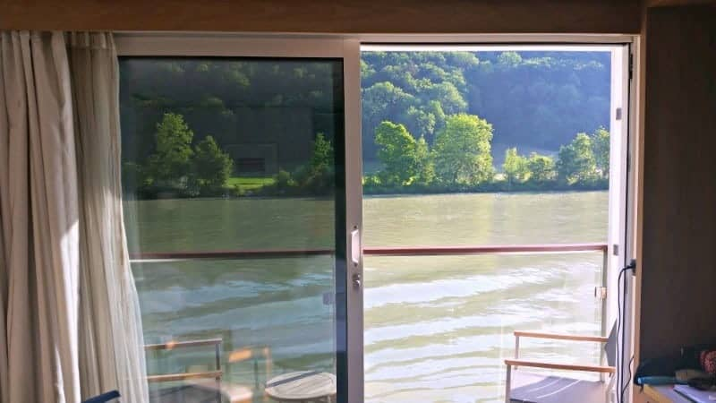 Danube River view from a river cruise ship