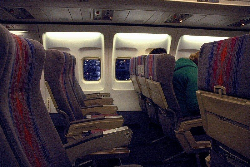 plane seats need to be sanitized