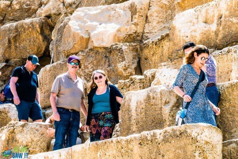 Dan & Linda on the Giza Pyramid. Egypt is