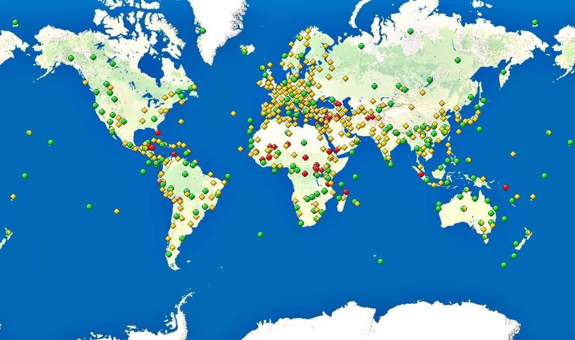 UNESCO map 2015