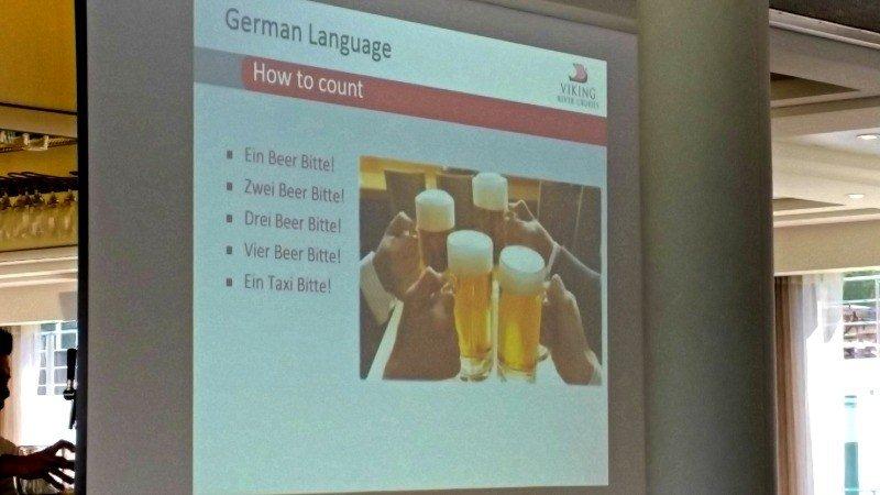 German language class in Viking lounge
