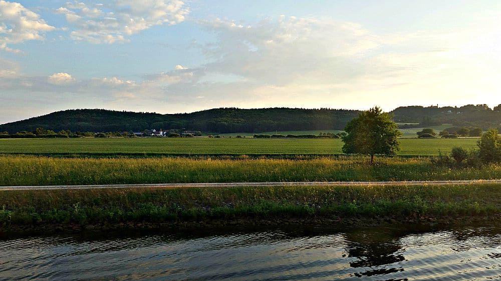 Our morning view as we cruised toward Nuremberg