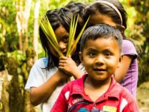 Children in the Amazon, South America
