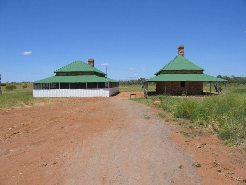 Outback telegraph station at Australian town Tennant Creek