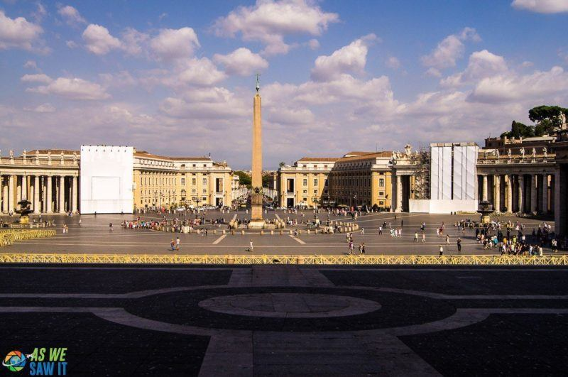 St. Peter's Square tops our list of things to see in Vatican City. You really can't miss it anyway.