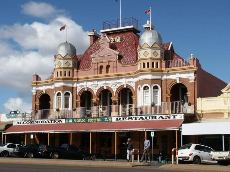 York Hotel in Kalgoorlie outback town